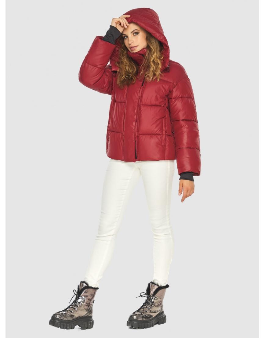 Фирменная куртка женская Kiro Tokao красная 60085 фото 1