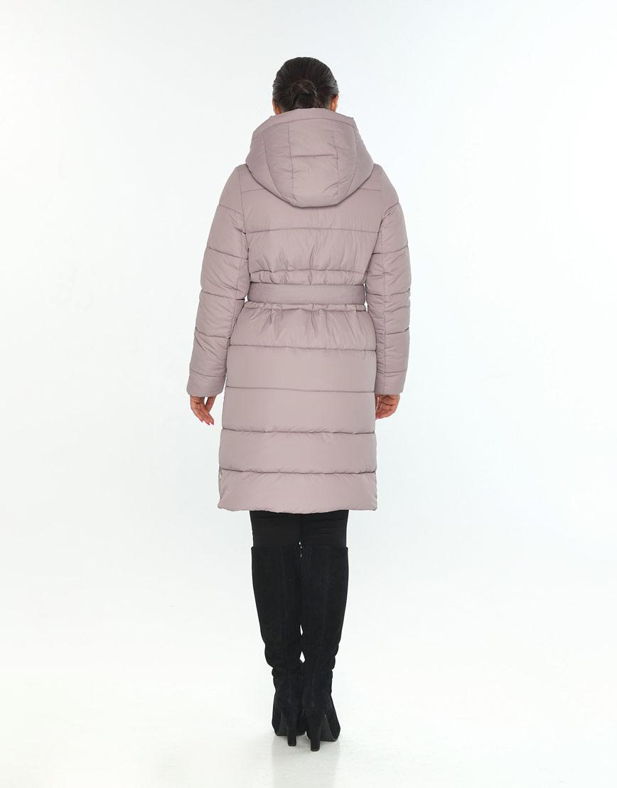 Куртка с поясом пудровая женская Wild Club для зимы 584-52 фото 3