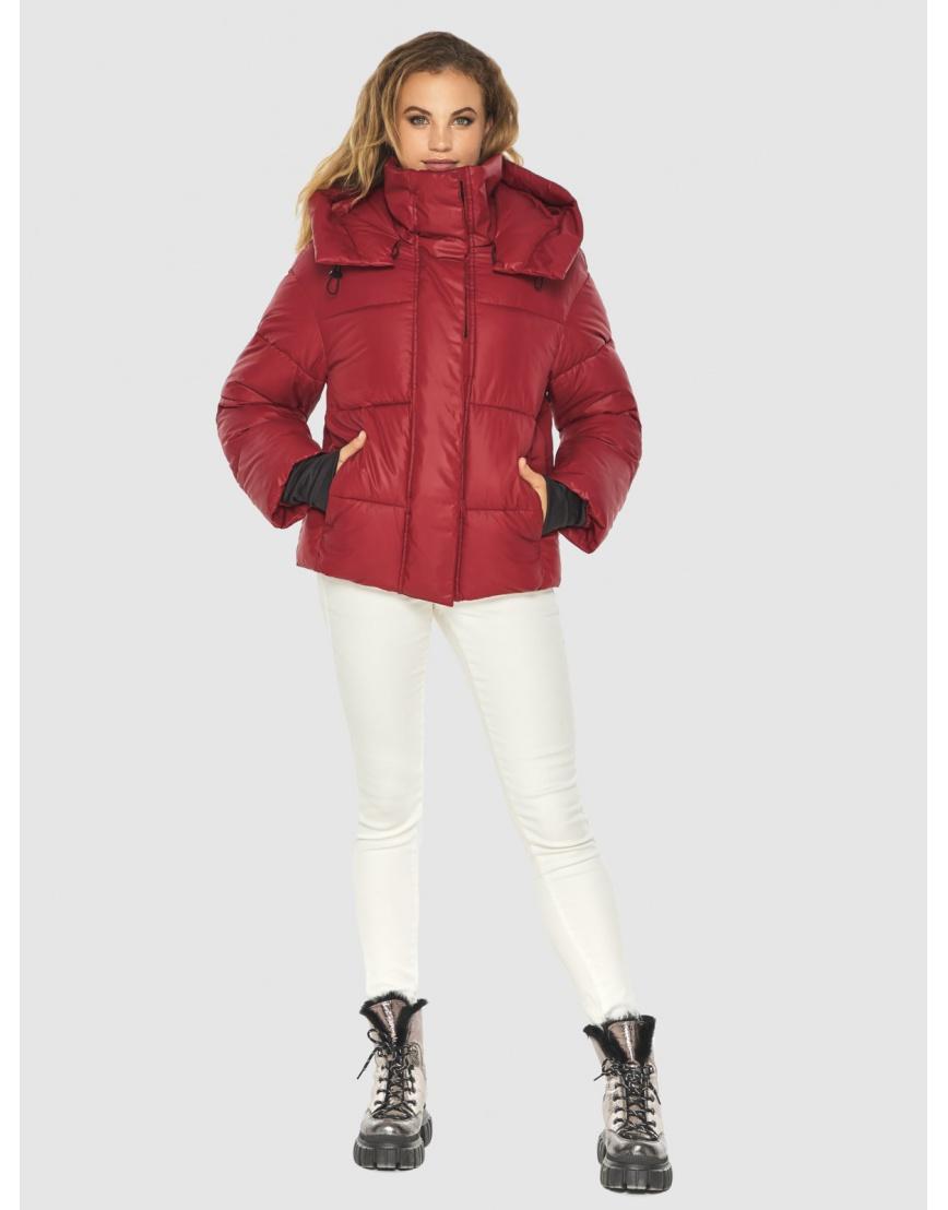 Фирменная куртка женская Kiro Tokao красная 60085 фото 2