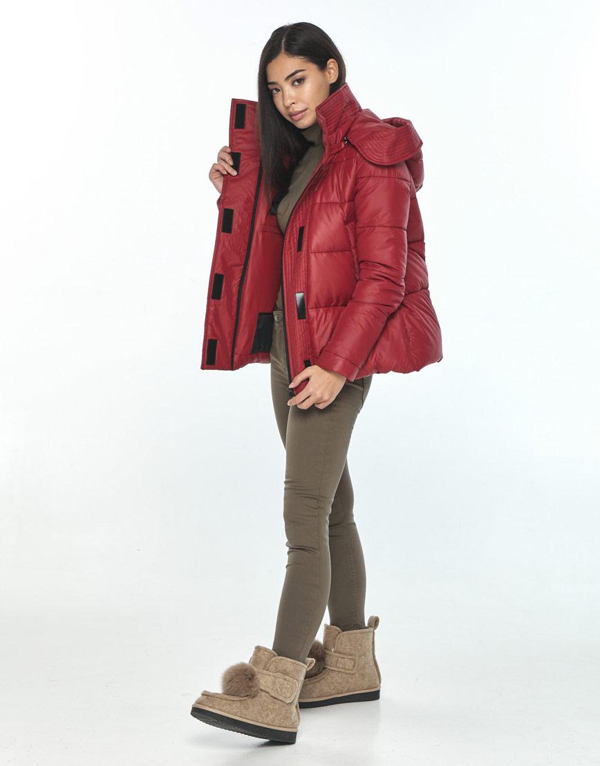 Трендовая женская короткая куртка Moc красная M6981 фото 2