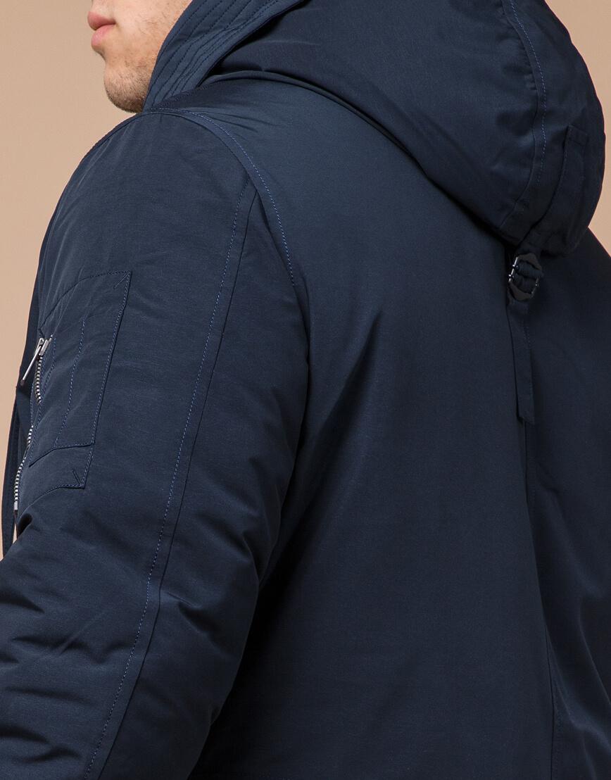 Синяя парка зимняя брендовая мужская модель 23675 фото 6