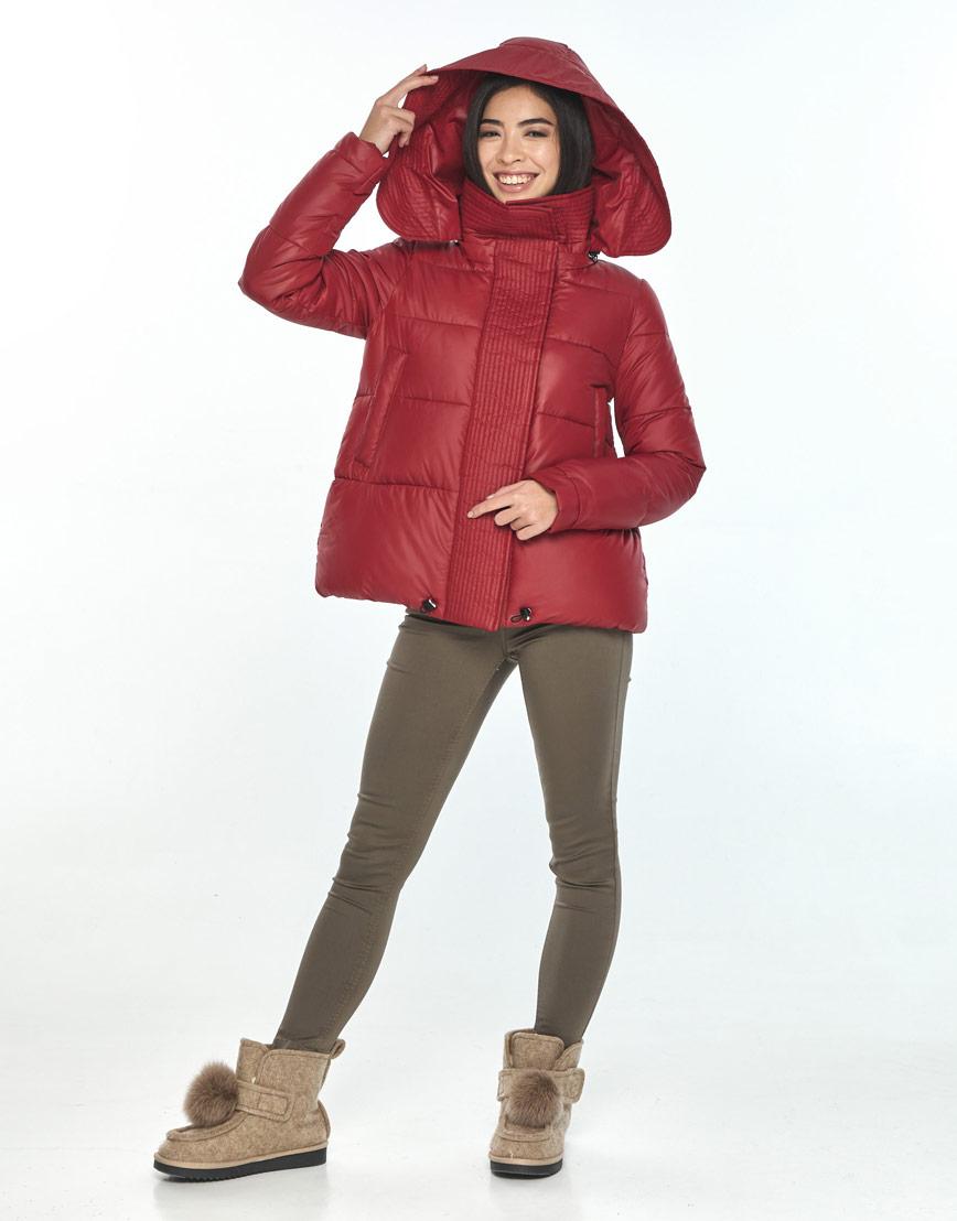 Трендовая женская короткая куртка Moc красная M6981 фото 1