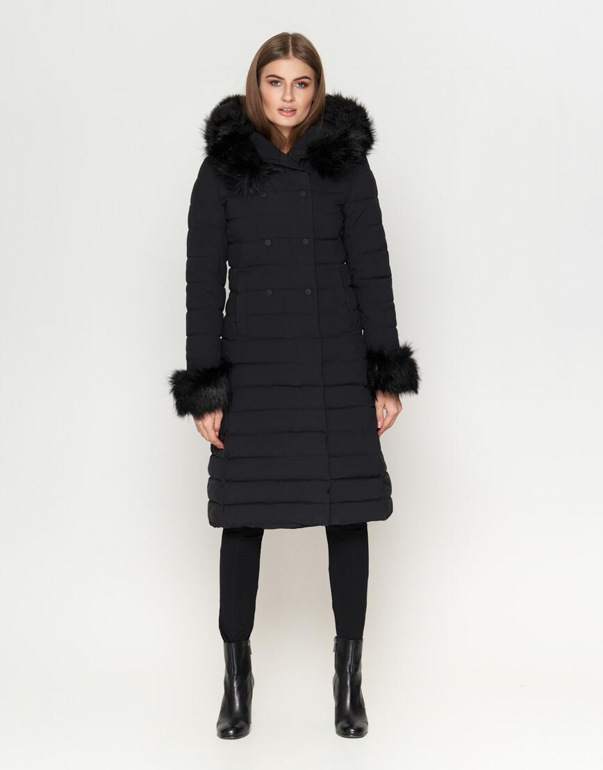 Женская куртка черная практичная модель 6612