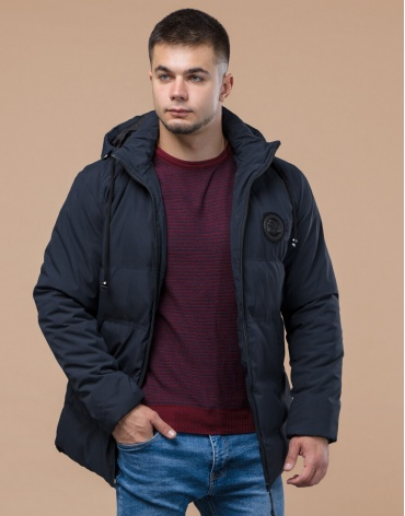 Синяя куртка зимняя фирменная мужская модель 25440 фото 1