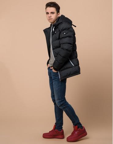 Куртка графитовая удобная подростковая модель 75263 оптом