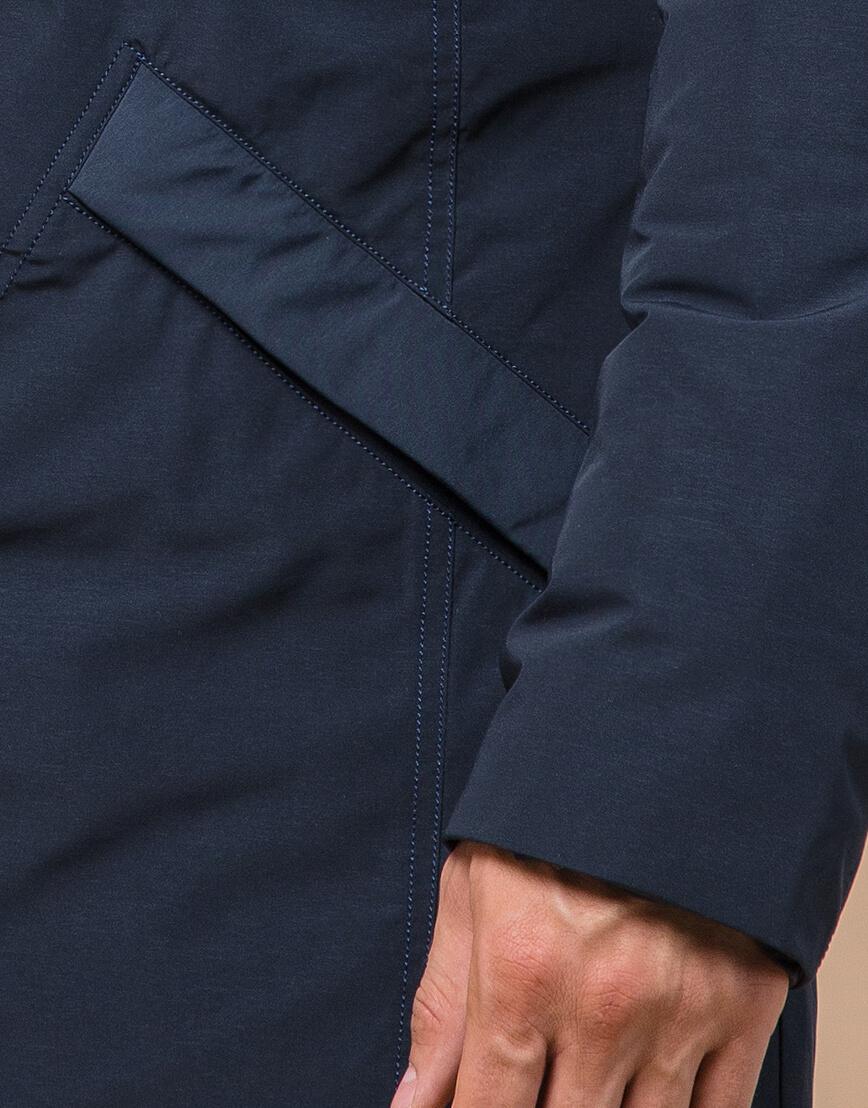 Синяя парка зимняя брендовая мужская модель 23675 фото 5