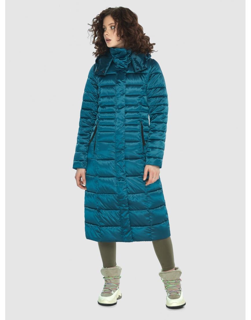 Аквамариновая курточка приталенного силуэта зимняя Moc для подростков M6430 фото 2