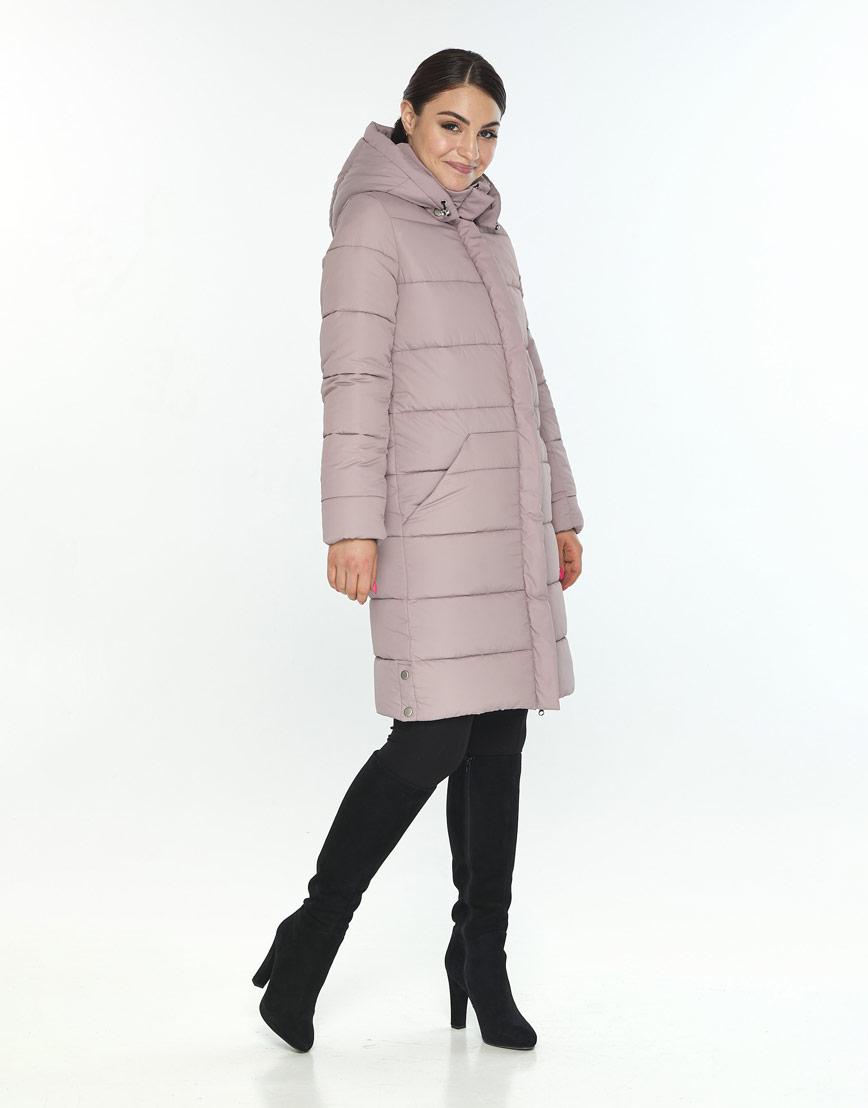 Куртка с поясом пудровая женская Wild Club для зимы 584-52 фото 1