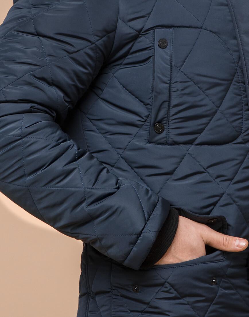 Куртка фирменная светло-синего цвета модель 44842 фото 5