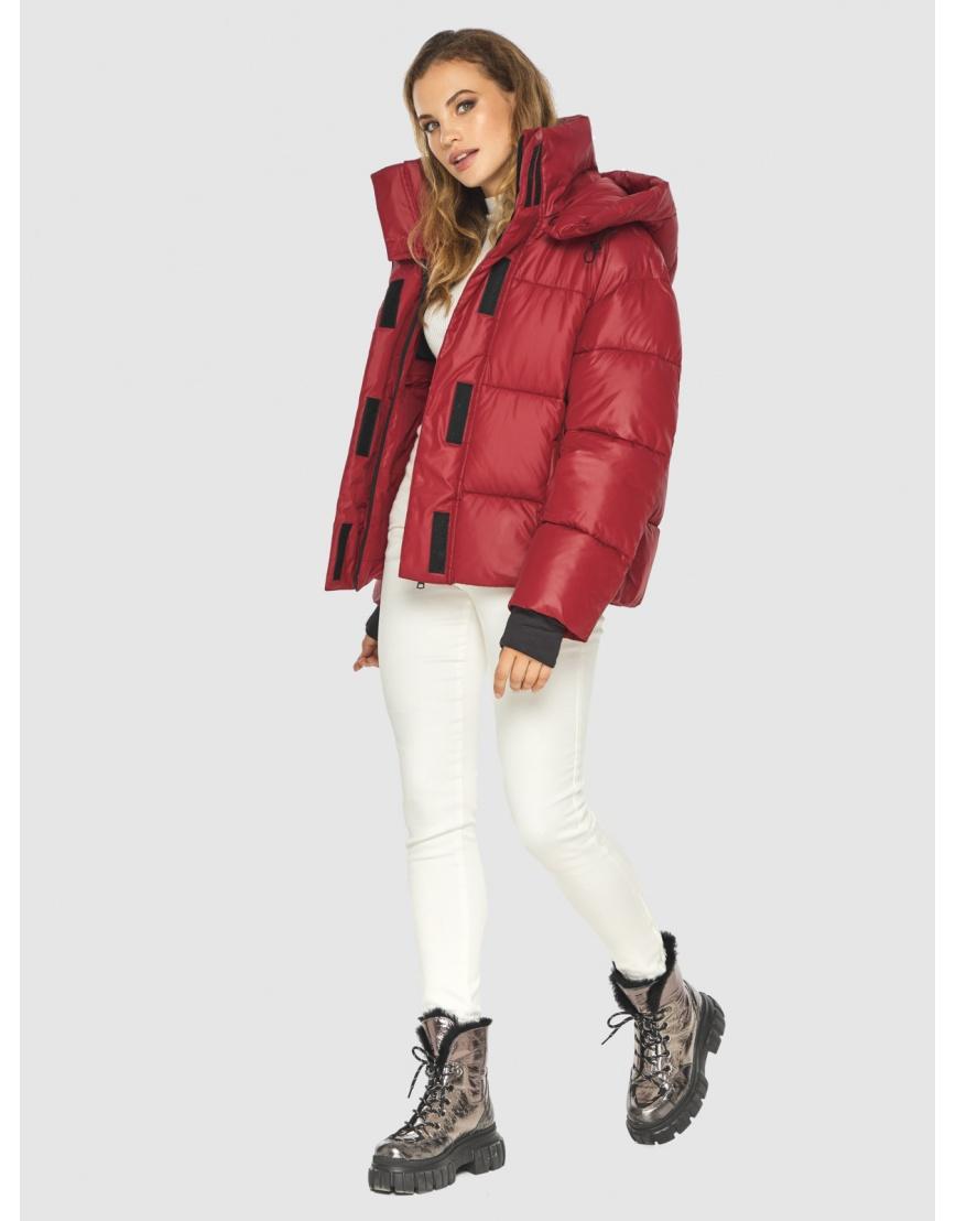Фирменная куртка женская Kiro Tokao красная 60085 фото 3