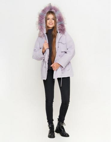 Куртка женская цвет светло-фиолетовый модель 8812