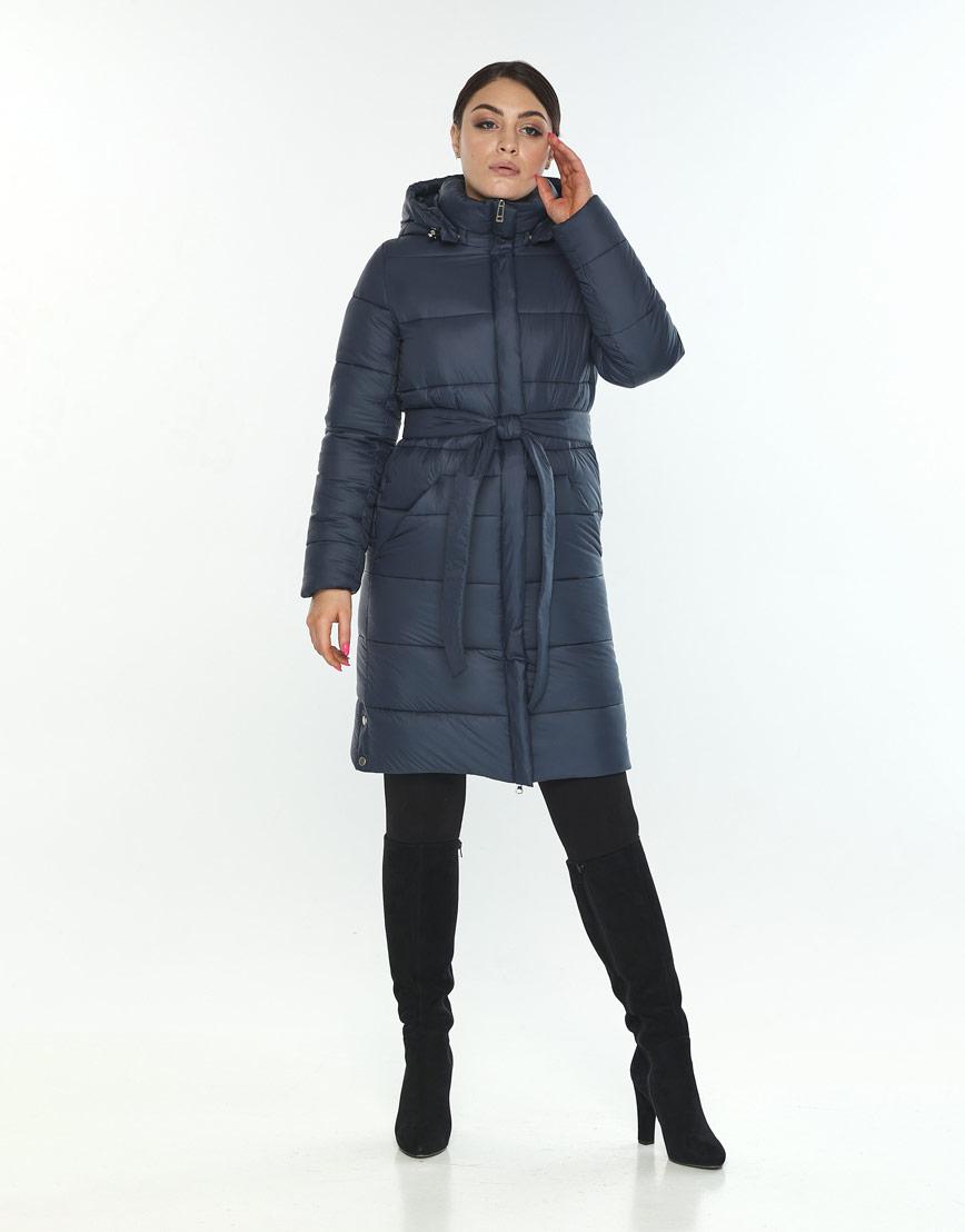 Модная женская куртка зимняя Wild Club цвет синий 584-52 фото 1