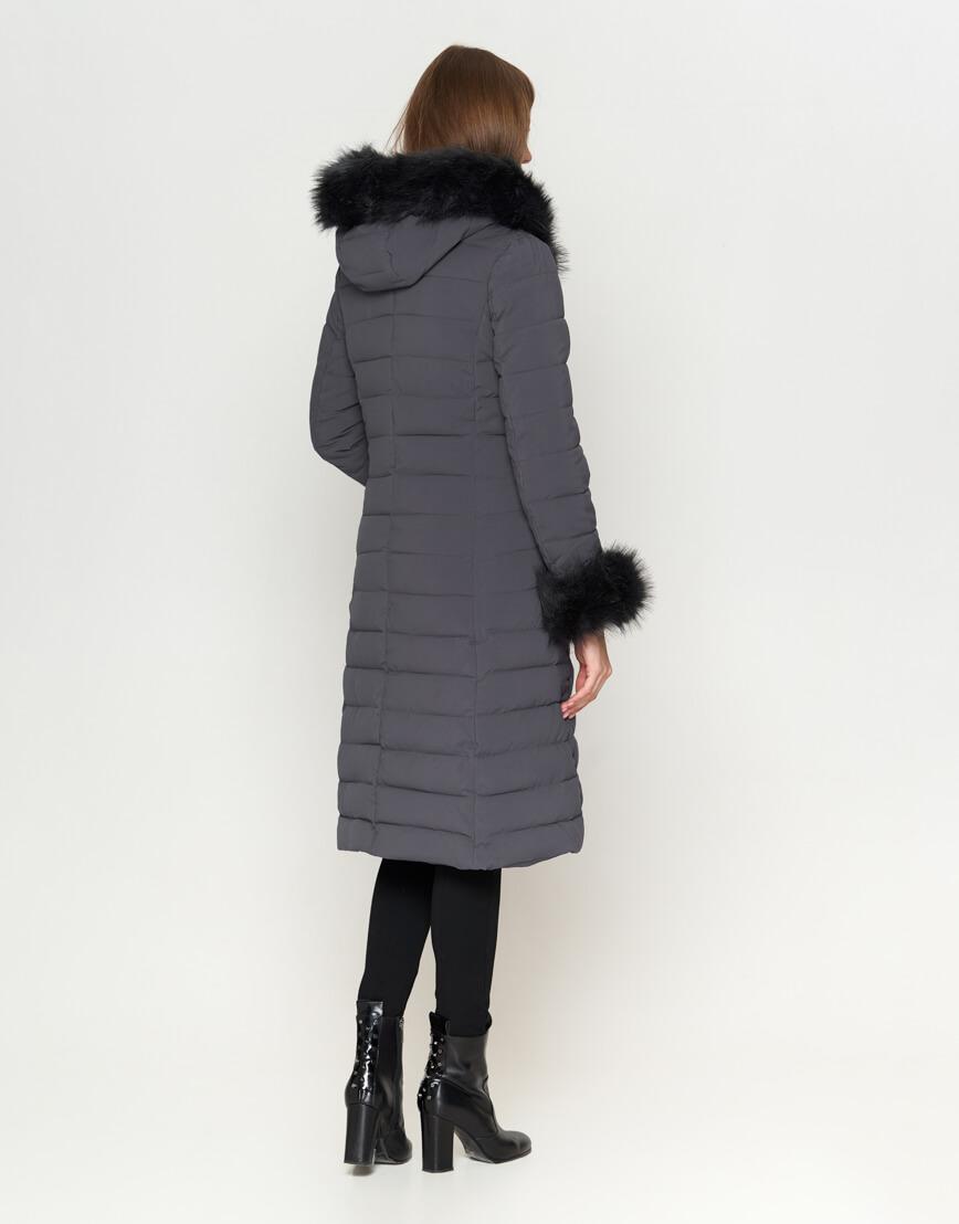 Серая женская куртка современная модель 6612 фото 4