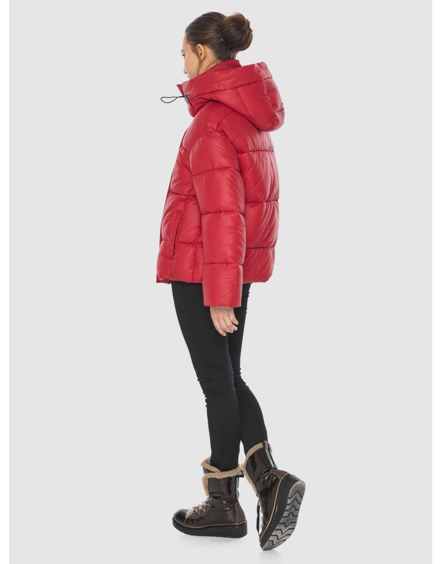 Куртка женская Wild Club красная свободного кроя 515-01 фото 4