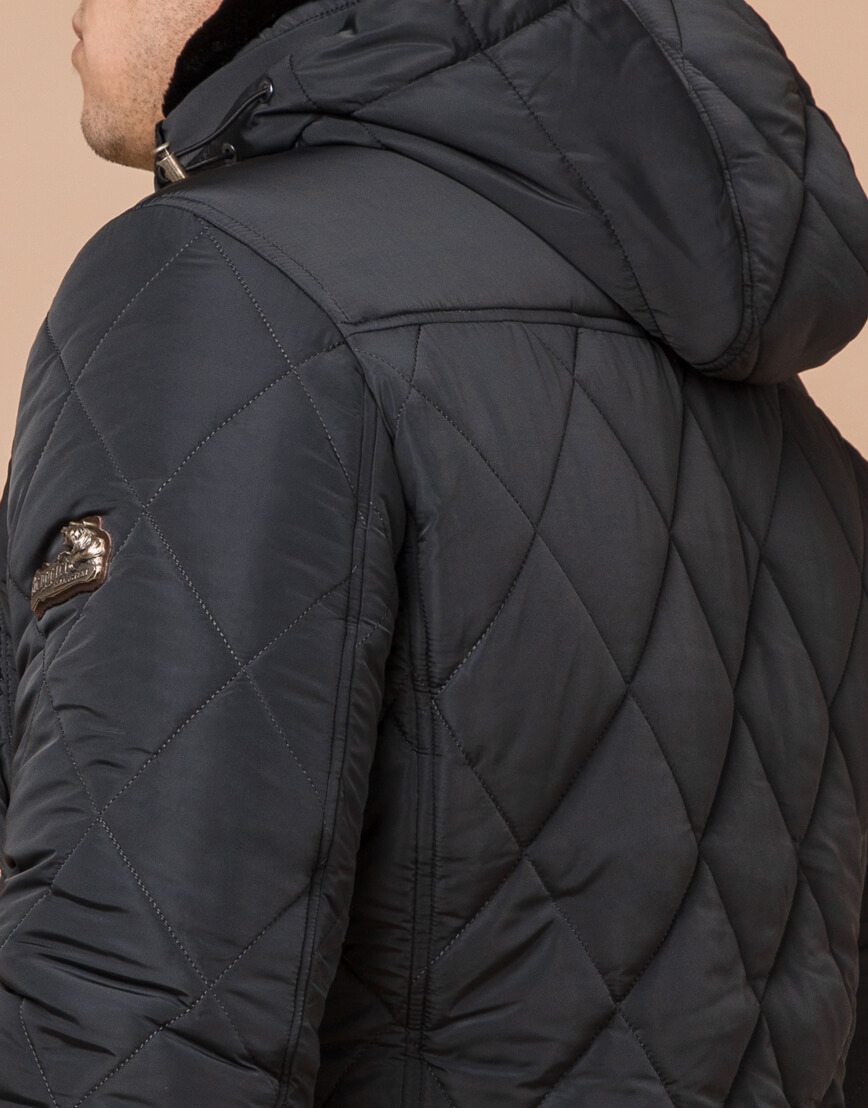 Современная графитовая куртка мужская модель 44842 фото 6
