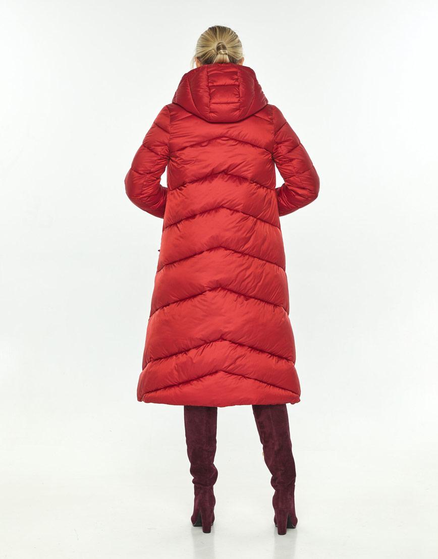Красная куртка с поясом женская Kiro Tokao 60035 фото 3