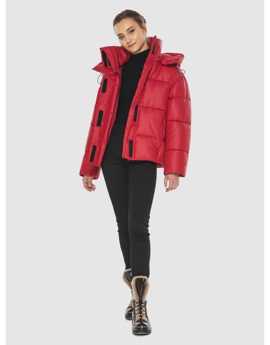 Куртка женская Wild Club красная свободного кроя 515-01 фото 5