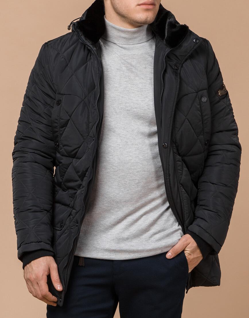 Современная графитовая куртка мужская модель 44842 фото 1