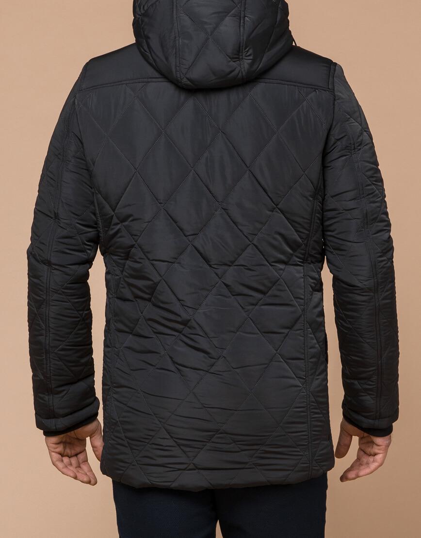 Современная графитовая куртка мужская модель 44842 фото 3