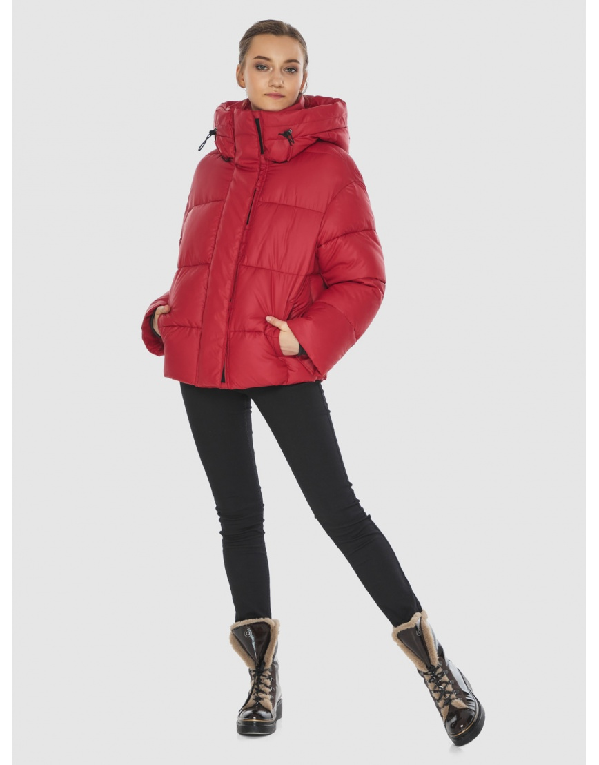 Куртка женская Wild Club красная свободного кроя 515-01 фото 6