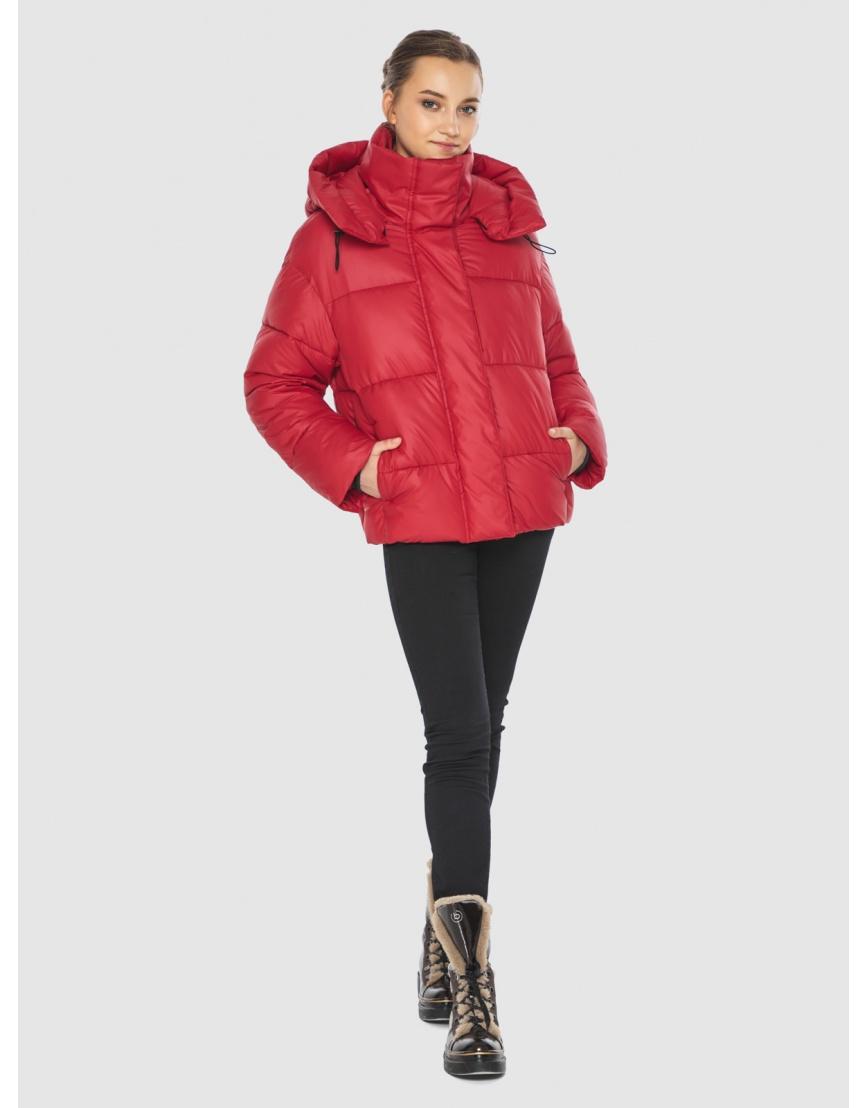 Куртка женская Wild Club красная свободного кроя 515-01 фото 3
