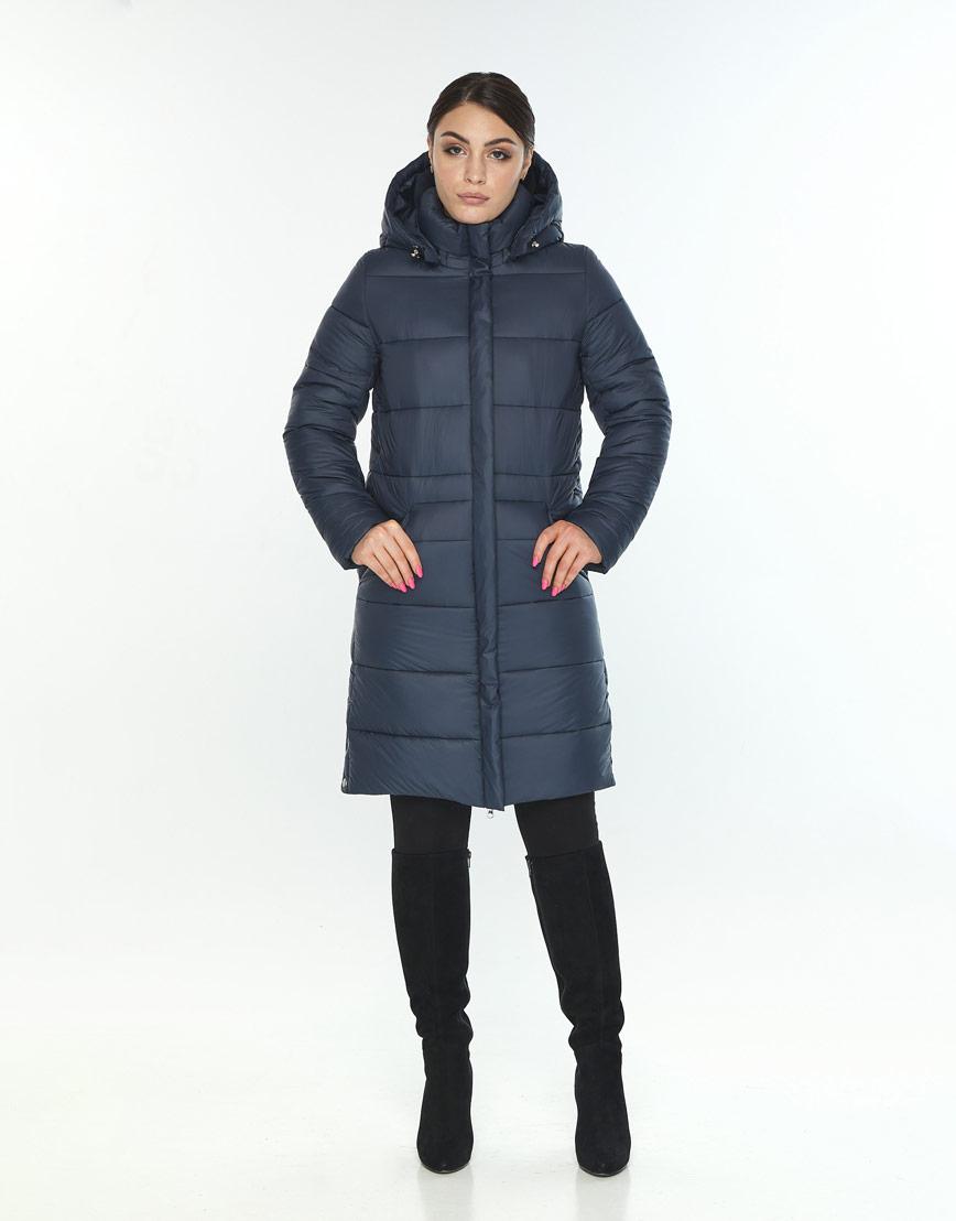 Модная женская куртка зимняя Wild Club цвет синий 584-52 фото 2
