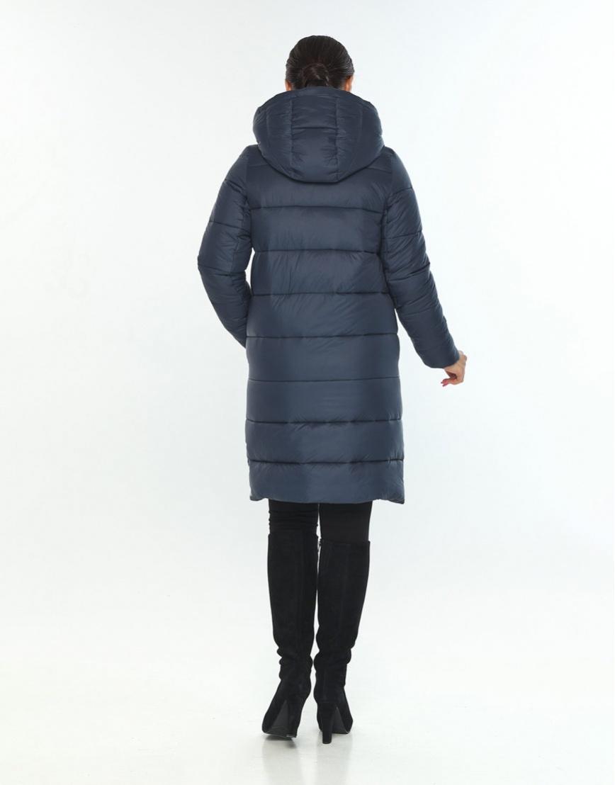 Модная женская куртка зимняя Wild Club цвет синий 584-52 фото 3