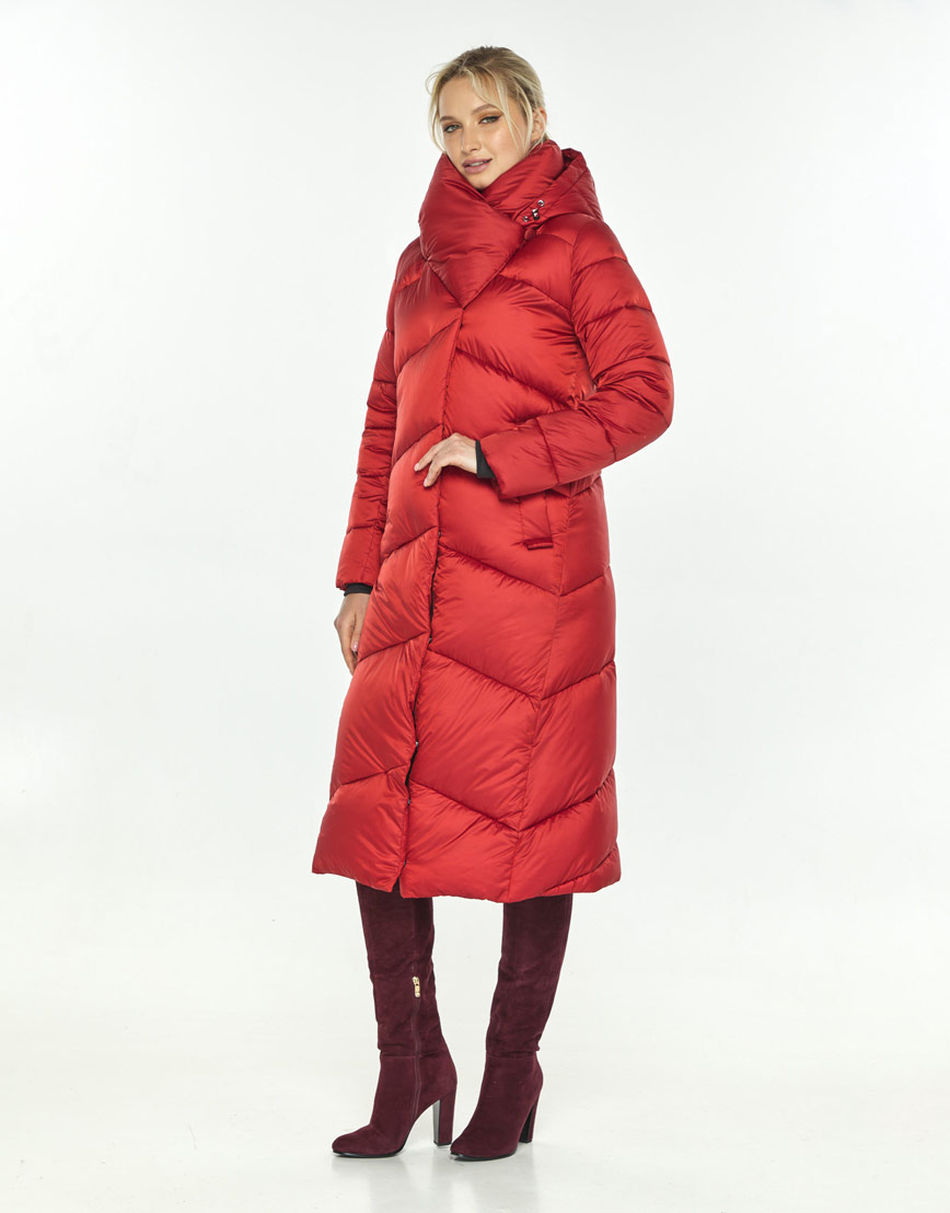 Красная куртка с поясом женская Kiro Tokao 60035 фото 1