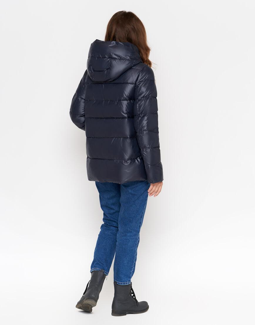 Черная куртка женская с карманами модель 8115