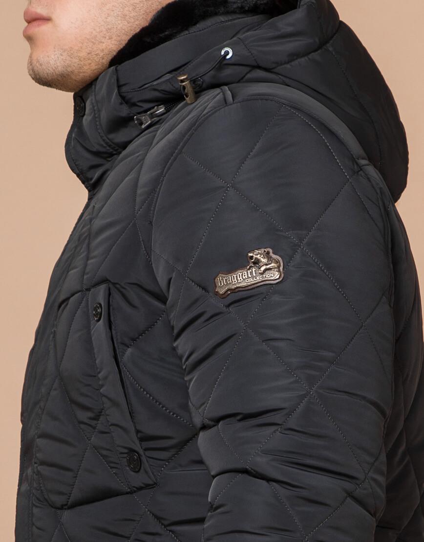 Современная графитовая куртка мужская модель 44842 фото 4