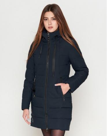 Темно-синяя куртка молодежная женская модель 25435