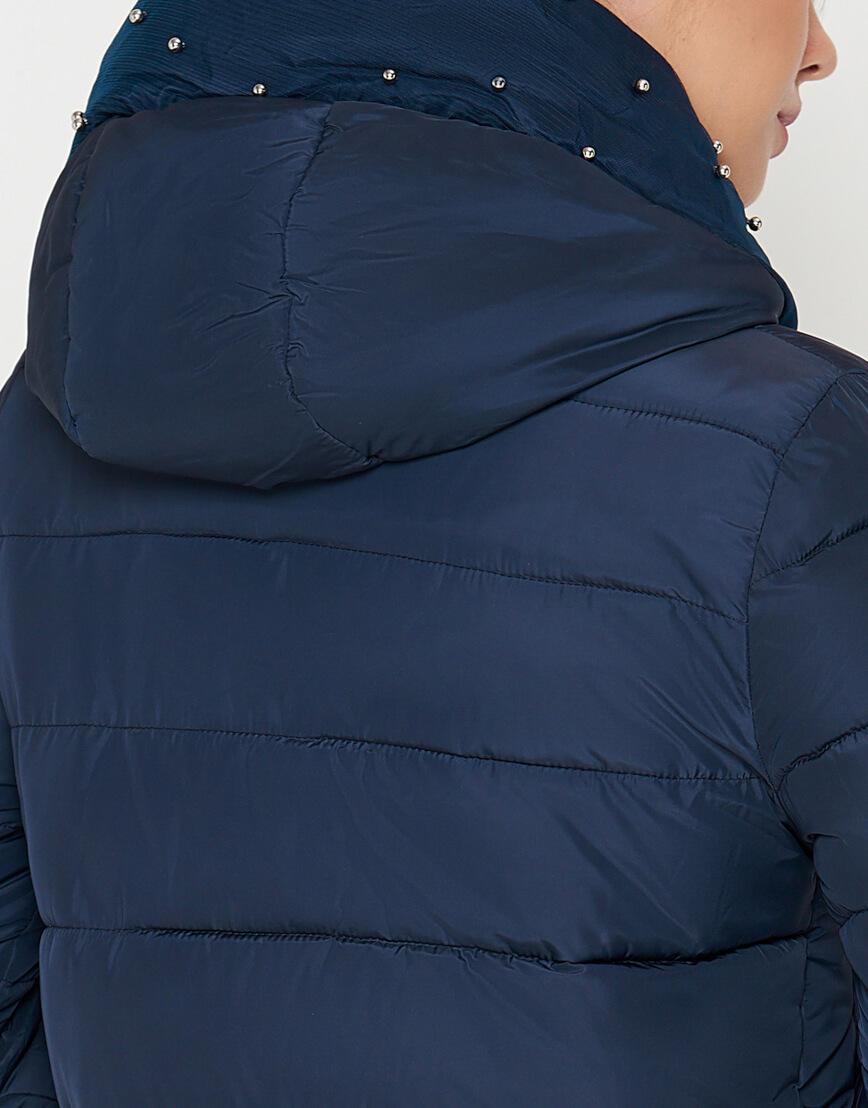 Куртка женская комфортная синяя модель 9105