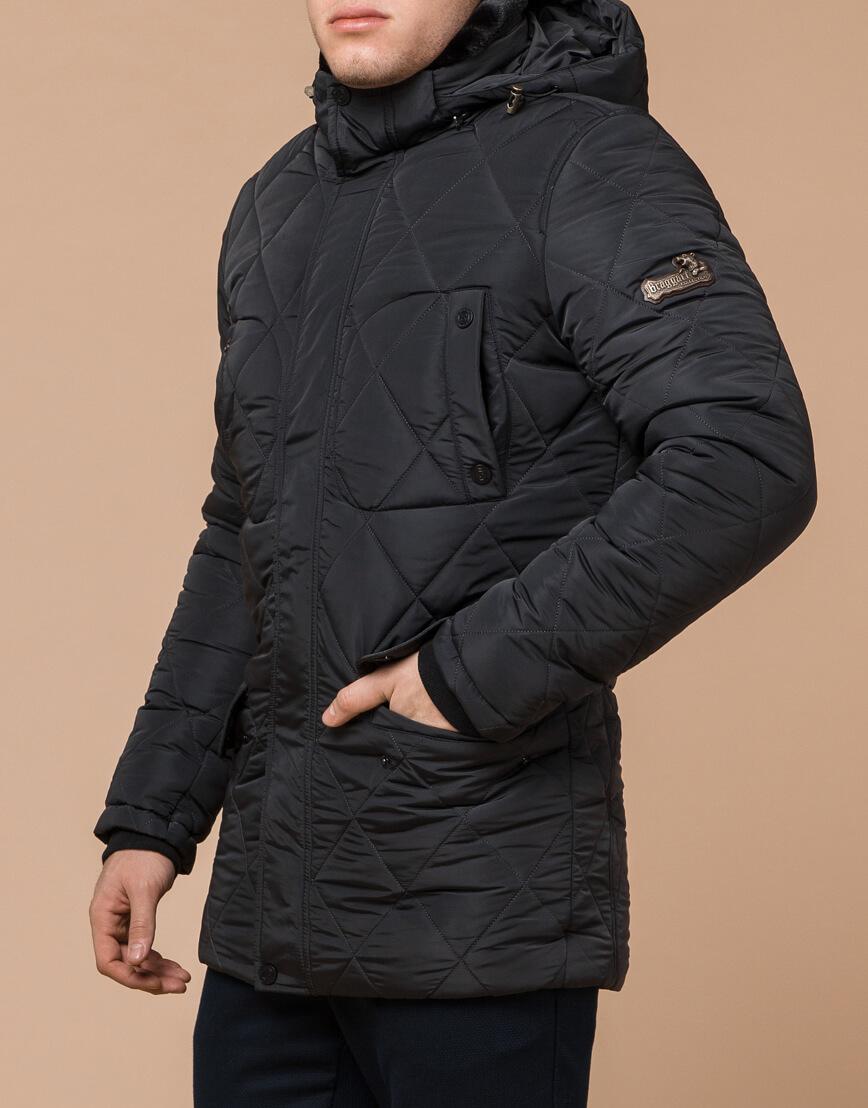 Современная графитовая куртка мужская модель 44842 фото 2