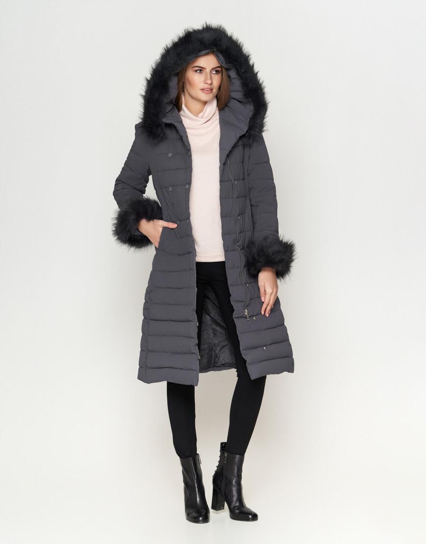 Серая женская куртка современная модель 6612 фото 1
