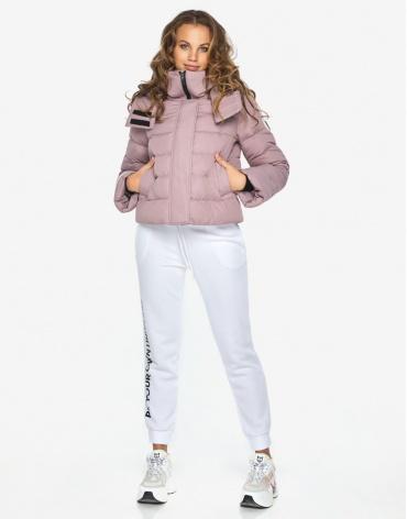 Пуховик куртка Youth женская удобная цвет пудра модель 21470 фото 1