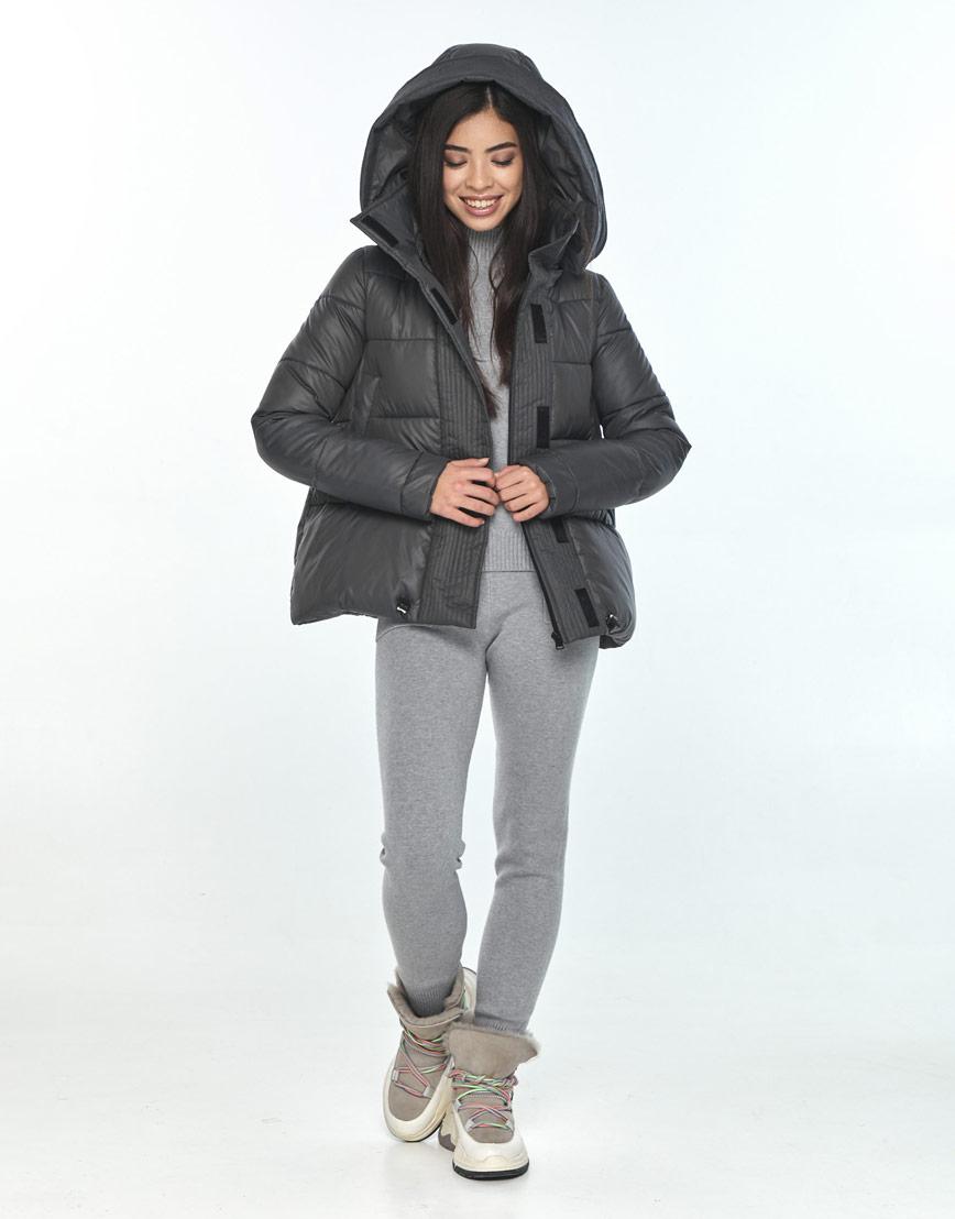 Серая женская куртка Moc комфортная M6981 фото 2