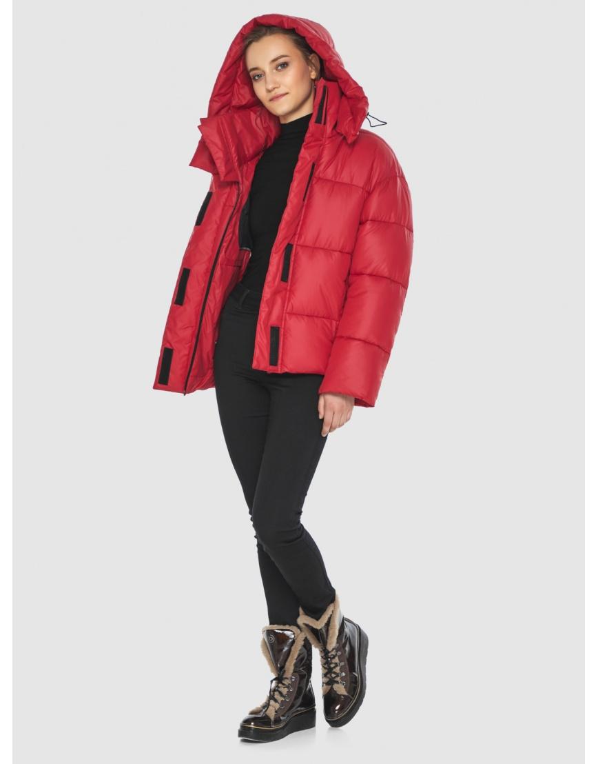Куртка женская Wild Club красная свободного кроя 515-01 фото 2