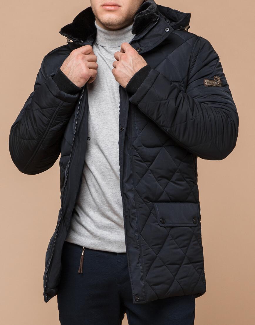 Теплая куртка темно-синего цвета модель 44842 фото 1
