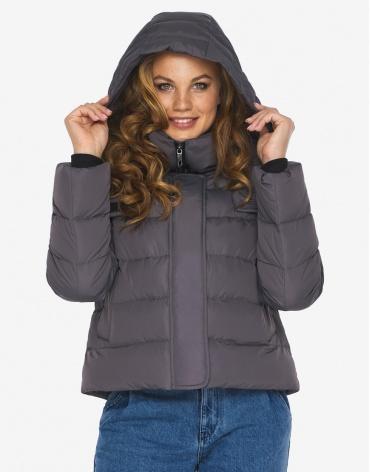Куртка пуховик Youth графитовый модный женский модель 21470 фото 1