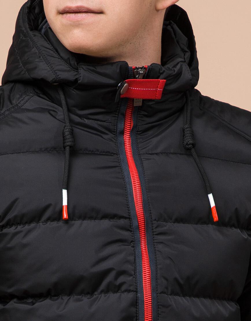 Комфортная подростковая куртка цвет черный модель 75263 оптом фото 5