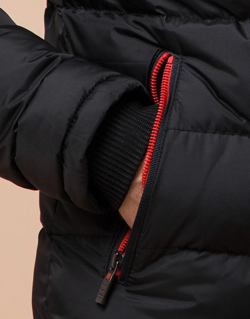 Комфортная подростковая куртка цвет черный модель 75263 оптом фото 6