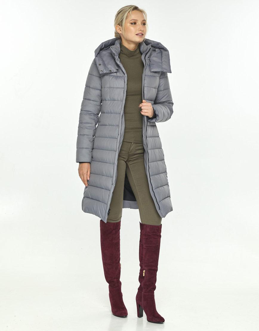 Серая куртка на молнии женская Kiro Tokao 60084 фото 2