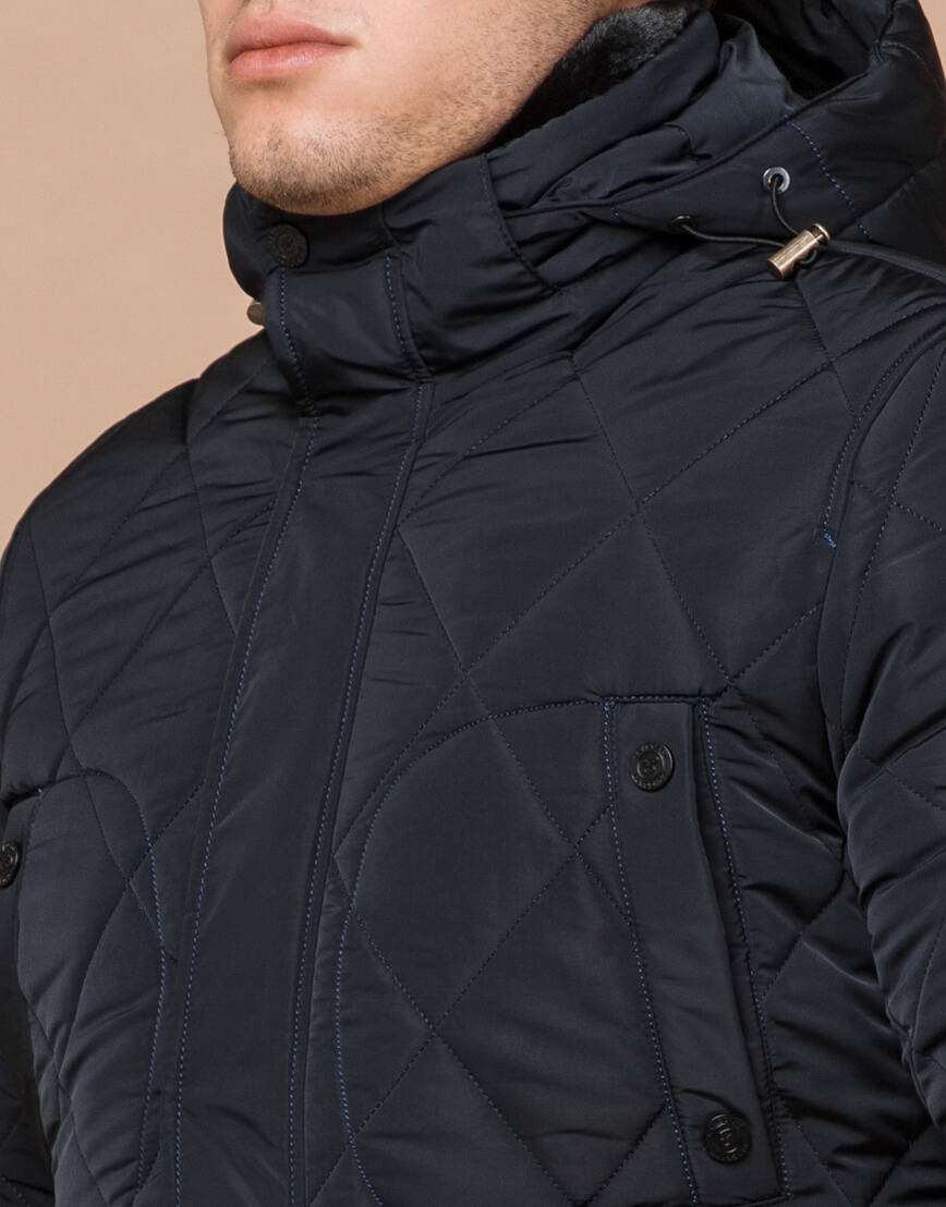 Теплая куртка темно-синего цвета модель 44842 фото 4
