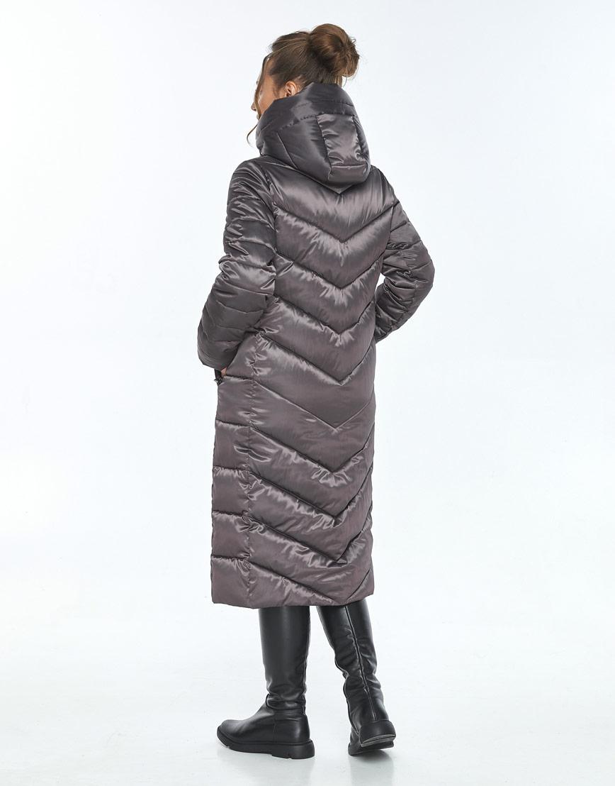 Длинная капучиновая куртка Ajento женская на зиму 21152 фото 3