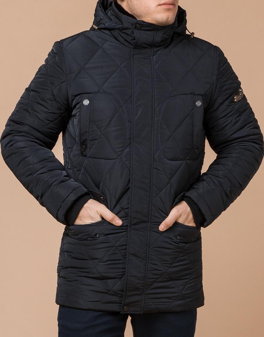 Теплая куртка темно-синего цвета модель 44842 фото 2