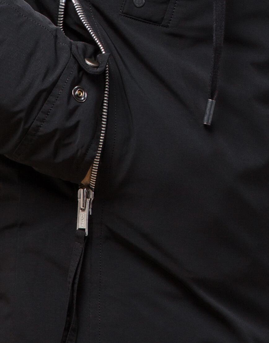Зимняя мужская парка черного цвета модель 15231 оптом фото 5