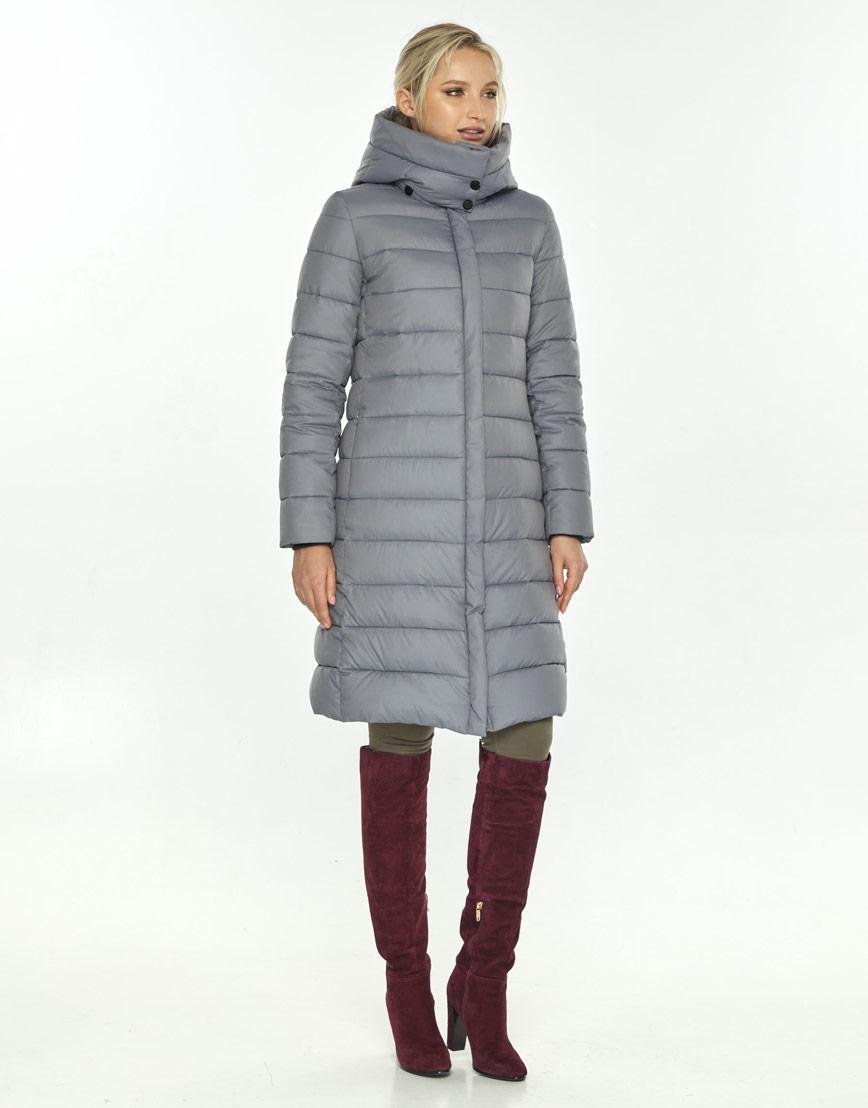 Серая куртка на молнии женская Kiro Tokao 60084 фото 1