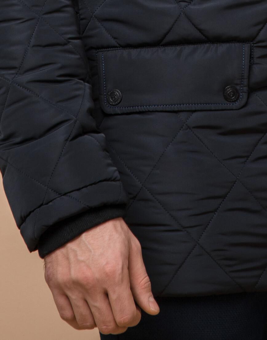Теплая куртка темно-синего цвета модель 44842 фото 5