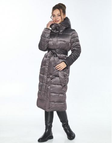 Длинная капучиновая куртка Ajento женская на зиму 21152 фото 1