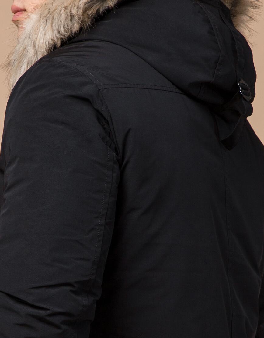 Зимняя мужская парка черного цвета модель 15231 оптом фото 6
